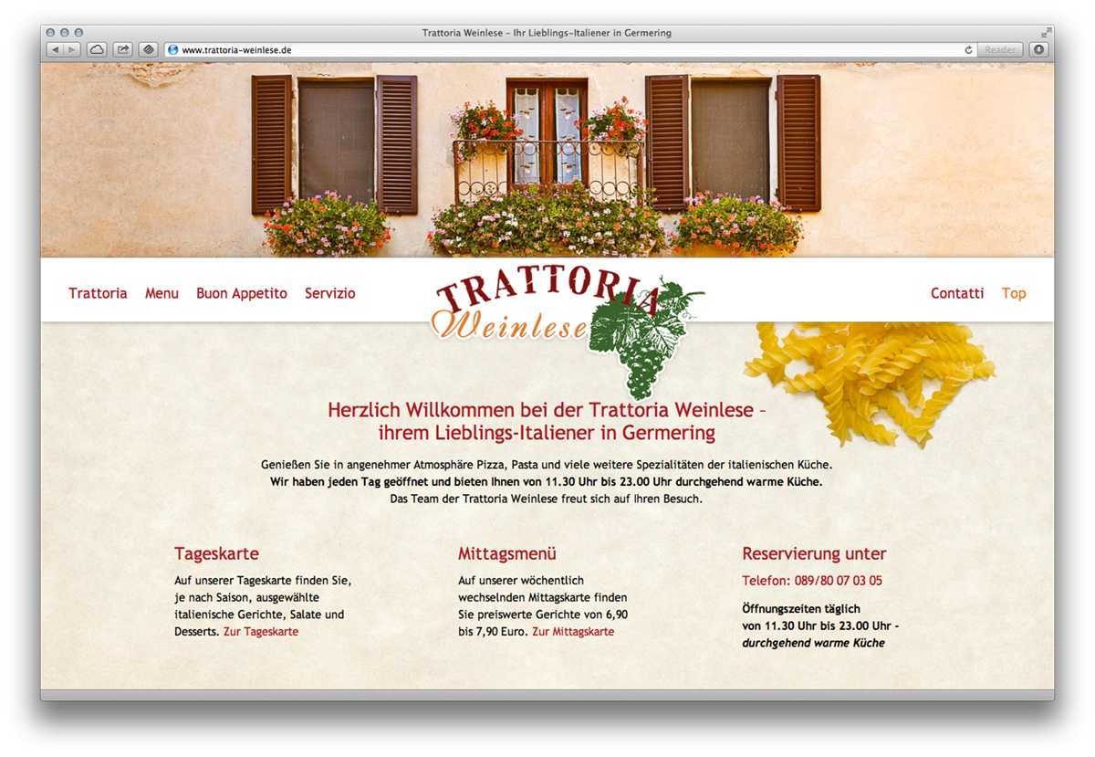 Single-Page Web-Design
