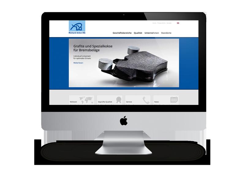 Webdesign Industrieunternehmen